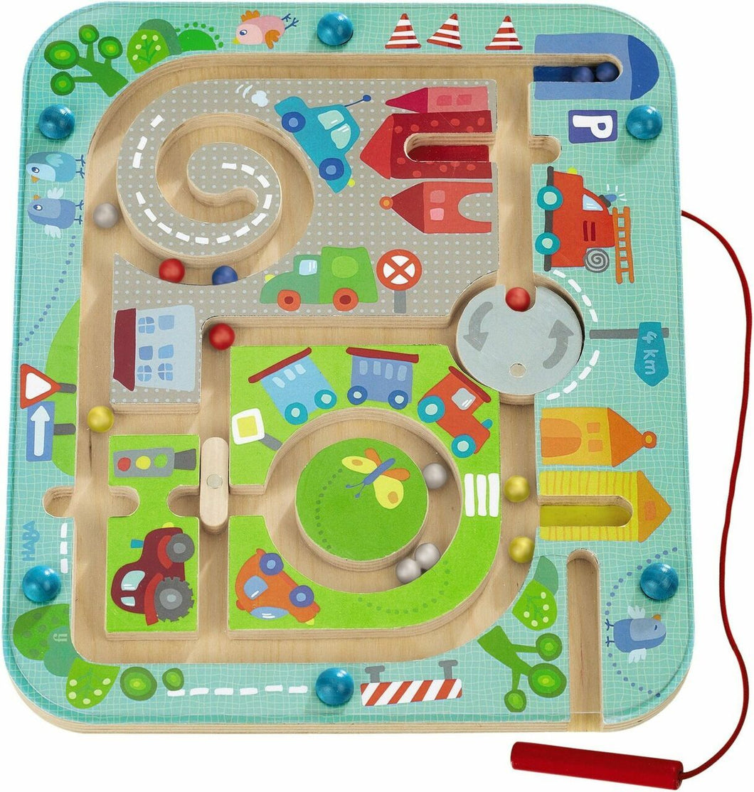 HABA Magnetic Town Maze Game - Wood Wood Toys Canada's Favourite Montessori Toy Store