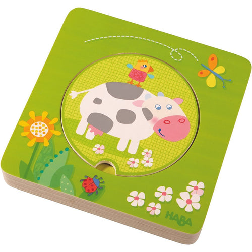 HABA On the Farm Wooden Puzzle - Wood Wood Toys Canada's Favourite Montessori Toy Store