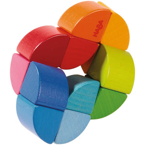 HABA Rainbow Ring Clutching Toy - Wood Wood Toys Canada's Favourite Montessori Toy Store