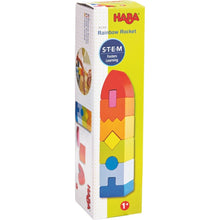 Load image into Gallery viewer, HABA Rainbow Rocket Stacking Game - Wood Wood Toys Canada's Favourite Montessori Toy Store