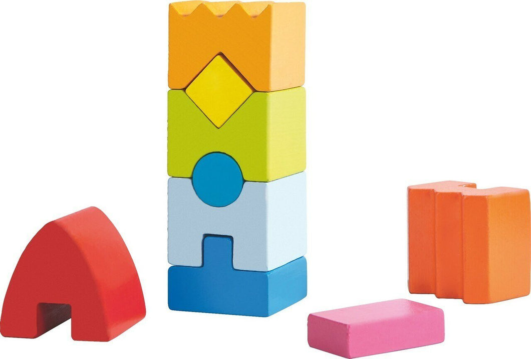 HABA Rainbow Rocket Stacking Game - Wood Wood Toys Canada's Favourite Montessori Toy Store