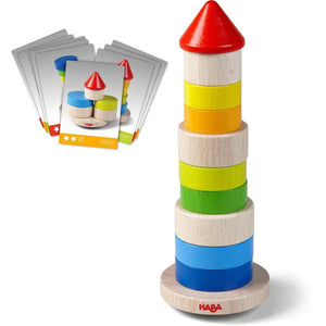 HABA Wobbly Tower Stacking Game - Wood Wood Toys Canada's Favourite Montessori Toy Store