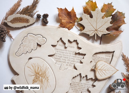 Handmade Leaves of Canada Puzzle by Wood Wood Toys - Wood Wood Toys Canada's Favourite Montessori Toy Store