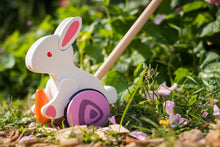 Load image into Gallery viewer, Hape Bunny Wooden Push and Pull Toddler Walking Toy - Wood Wood Toys Canada's Favourite Montessori Toy Store