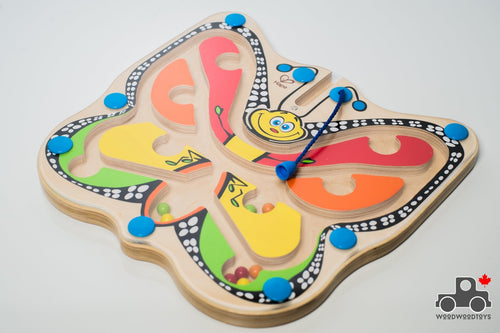 Hape Colour Flutter Butterfly - Wood Wood Toys Canada's Favourite Montessori Toy Store