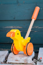 Load image into Gallery viewer, Hape Duck Push Toy - Wood Wood Toys Canada's Favourite Montessori Toy Store