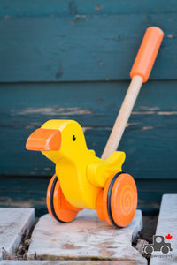 Hape Duck Push Toy - Wood Wood Toys Canada's Favourite Montessori Toy Store