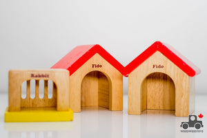 Hape Family Pet Houses - Wood Wood Toys Canada's Favourite Montessori Toy Store