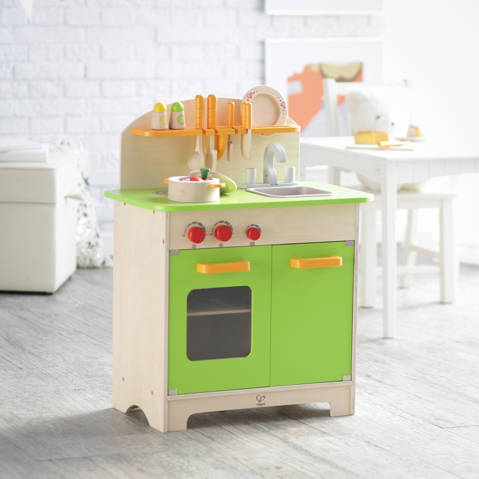 Details about  /Hape Gourmet Play Kitchen Starter Accessories Wooden Play Set