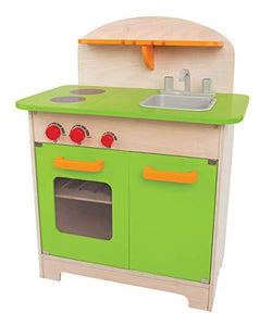 Hape Gourmet Kitchen Kid's Wooden Play Kitchen in Green - Wood Wood Toys Canada's Favourite Montessori Toy Store