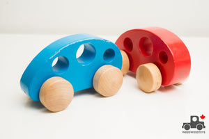 Hape Grasping Minivans (Set of 2) - Wood Wood Toys Canada's Favourite Montessori Toy Store
