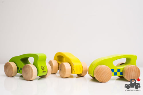 Hape Little Autos (Set of 3) - Wood Wood Toys Canada's Favourite Montessori Toy Store