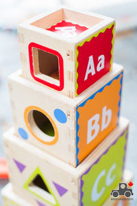 Hape Pyramid of Play - Wood Wood Toys Canada's Favourite Montessori Toy Store