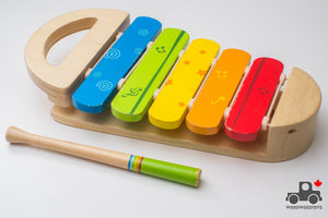 Hape Rainbow Xylophone - Wood Wood Toys Canada's Favourite Montessori Toy Store