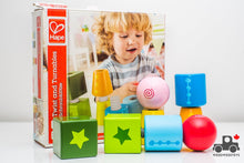 Load image into Gallery viewer, Hape Twist and Turnables Wooden Building Block Learning Set - Wood Wood Toys Canada's Favourite Montessori Toy Store