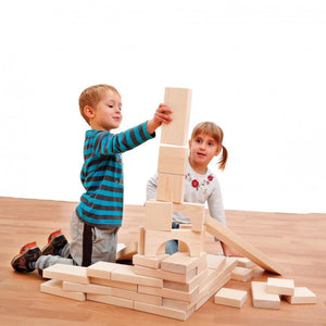 HUGE Maxi Block Set (41 Pieces) by Erzi - Wood Wood Toys Canada's Favourite Montessori Toy Store