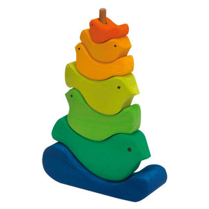 Gluckskafer - Rainbow Bird Stacker (7 Pieces)