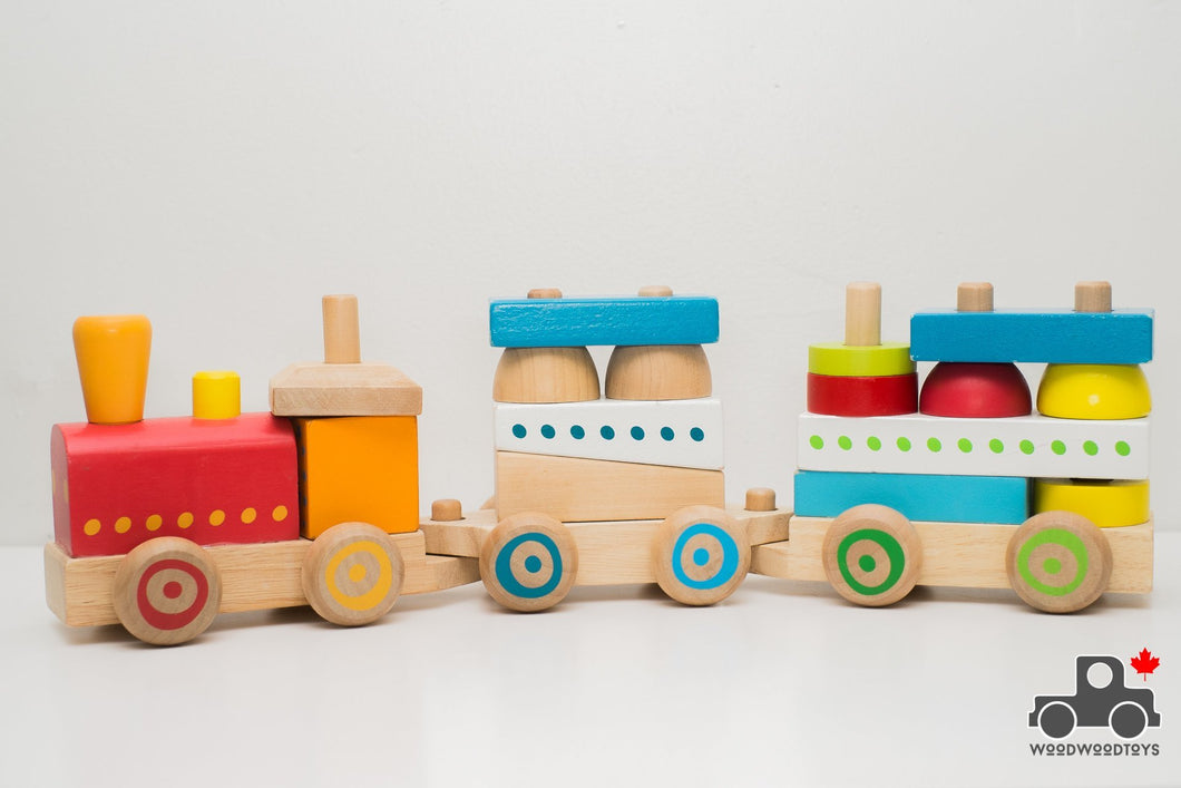 Imaginarium 3 Car Stacking Train by Toys R Us - Wood Wood Toys Canada's Favourite Montessori Toy Store