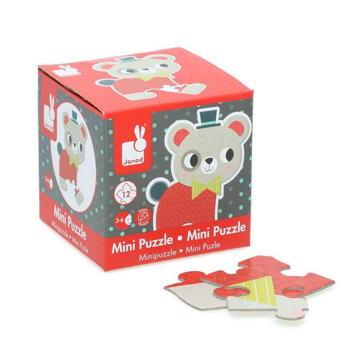 Janod Baby Forest Mini-Jigsaw Puzzle (Various) - Wood Wood Toys Canada's Favourite Montessori Toy Store