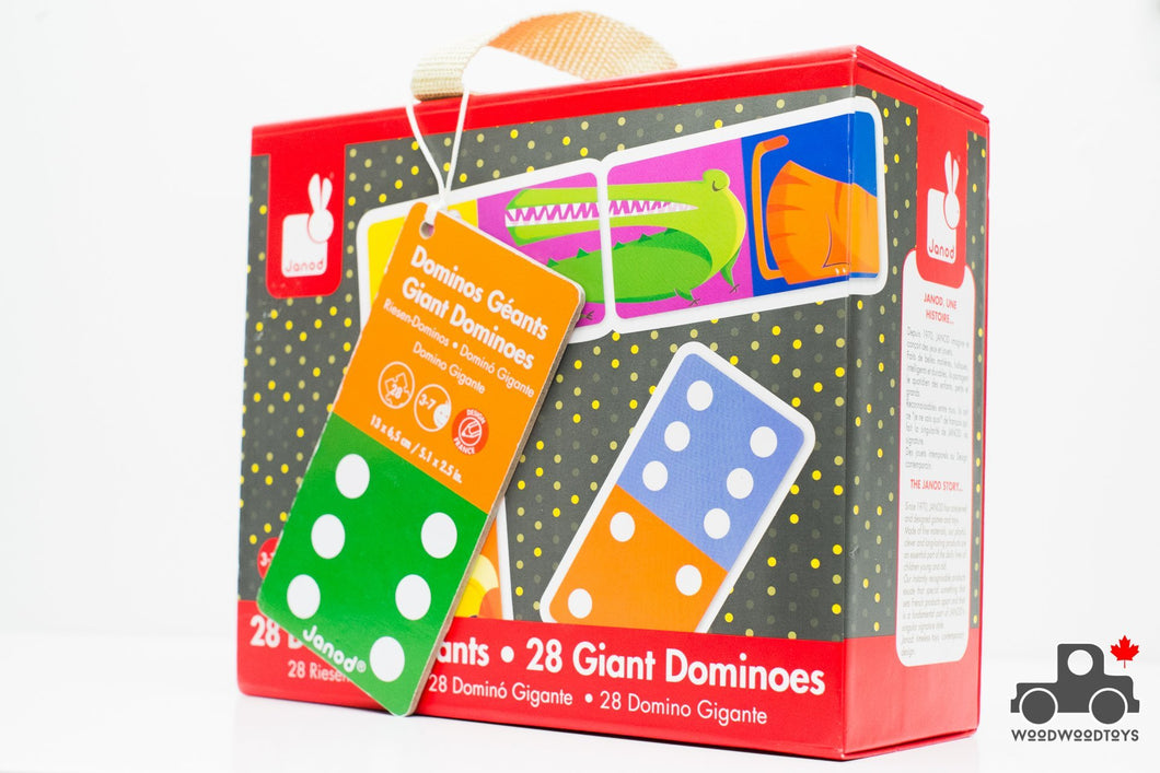 Janod Jungle Giant Dominoes - Wood Wood Toys Canada's Favourite Montessori Toy Store