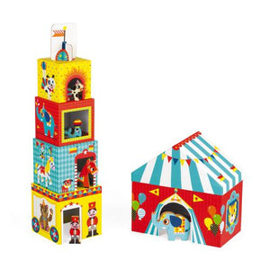 Janod Multikub Circus Stacker - Wood Wood Toys Canada's Favourite Montessori Toy Store