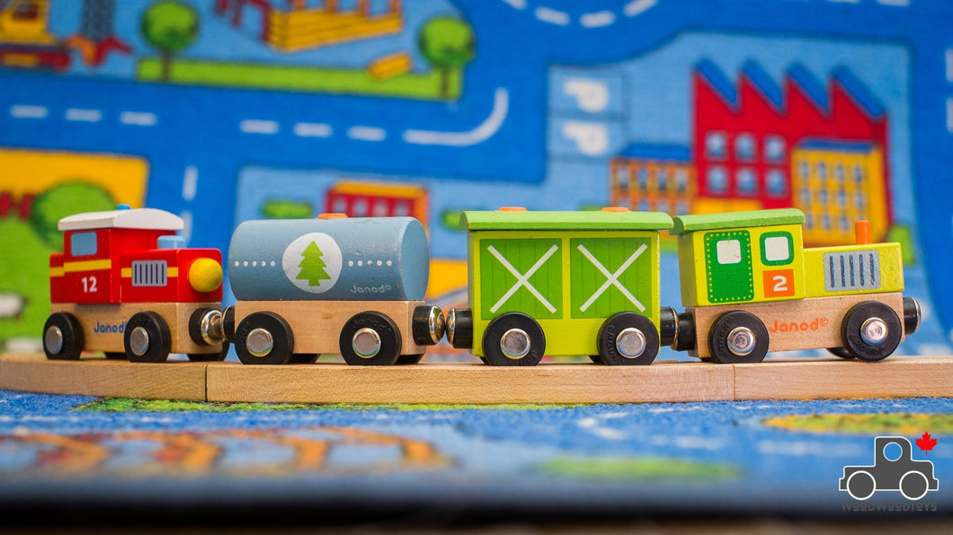 Janod Story Train - Wood Wood Toys Canada's Favourite Montessori Toy Store
