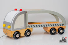 Load image into Gallery viewer, Janod Transport Truck - Wood Wood Toys Canada's Favourite Montessori Toy Store