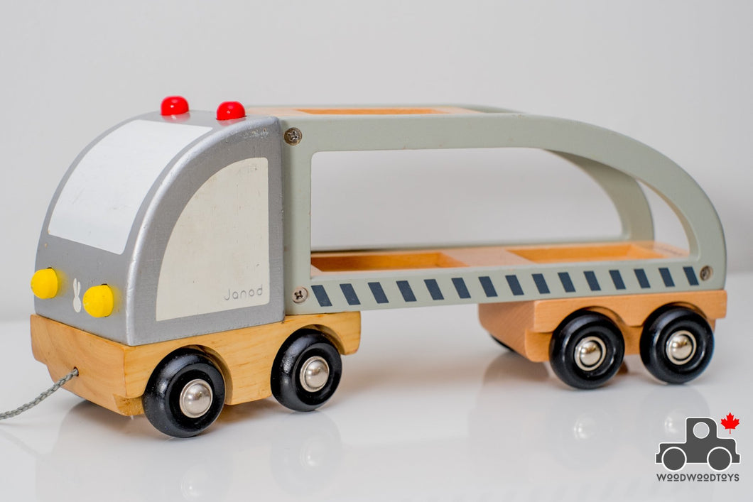 Janod Transport Truck - Wood Wood Toys Canada's Favourite Montessori Toy Store