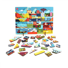 "Load image into Gallery viewer, Kars en Boom Puzzle ""Day"" - Wood Wood Toys Canada's Favourite Montessori Toy Store"