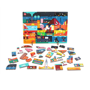 "Kars en Boom Puzzle ""Night"" - Wood Wood Toys Canada's Favourite Montessori Toy Store"