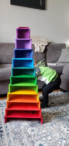 Large Rainbow Stacker by Wood Wood Toys (Made in Canada) - Wood Wood Toys Canada's Favourite Montessori Toy Store