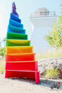 Large Rainbow Stacker by Wood Wood Toys - Wood Wood Toys Canada's Favourite Montessori Toy Store