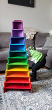 Load image into Gallery viewer, Large Semicircles for Rainbow Stackers (Made in Canada) - Wood Wood Toys Canada's Favourite Montessori Toy Store