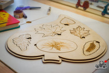 Load image into Gallery viewer, Leaves of Canada Handmade Wood Wood Exclusive Puzzle - Wood Wood Toys Canada's Favourite Montessori Toy Store