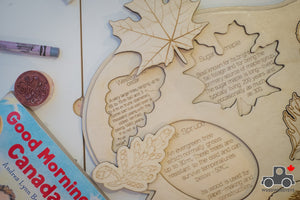 Leaves of Canada Handmade Wood Wood Exclusive Puzzle - Wood Wood Toys Canada's Favourite Montessori Toy Store