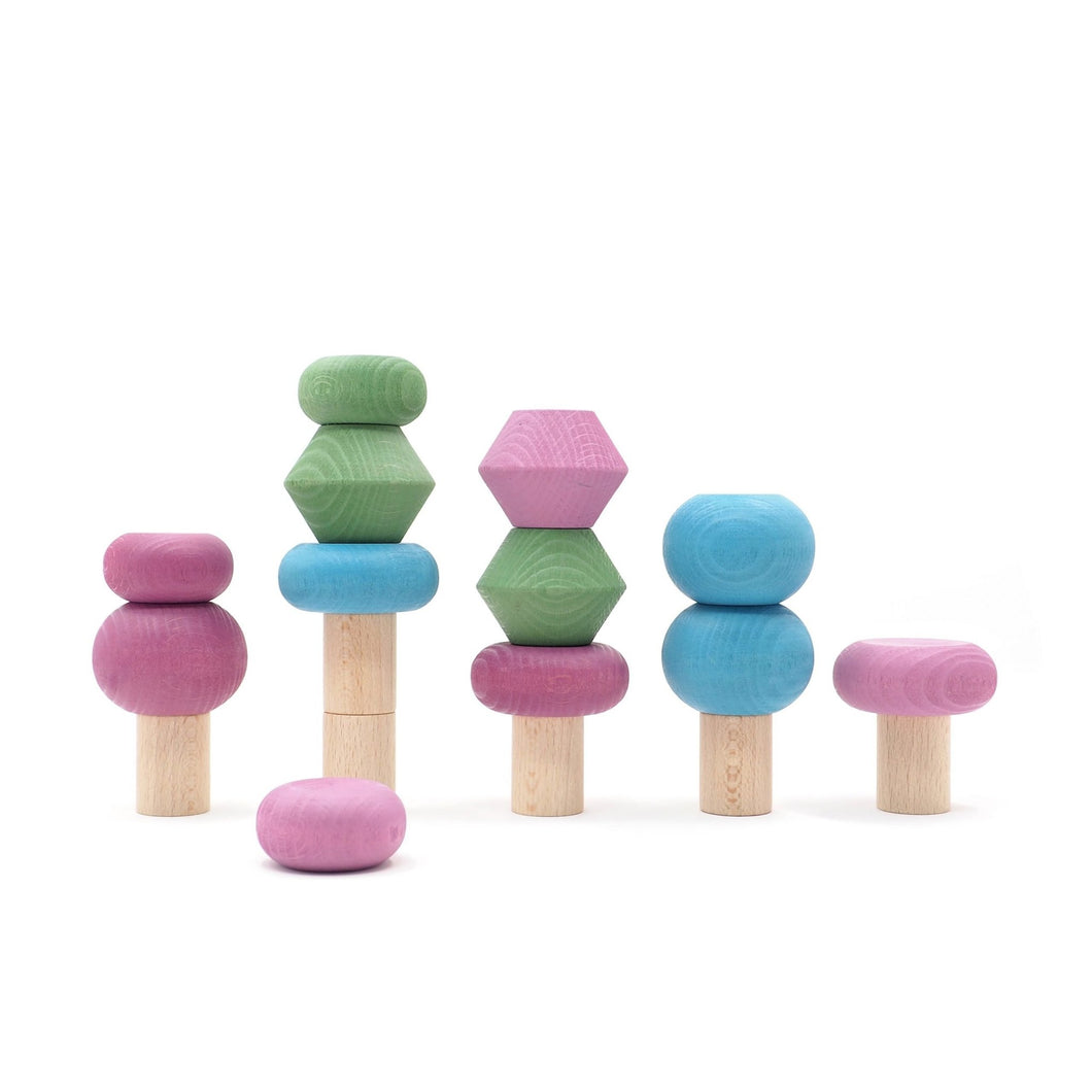 Lubulona Spring Stacking Trees - Wood Wood Toys Canada's Favourite Montessori Toy Store