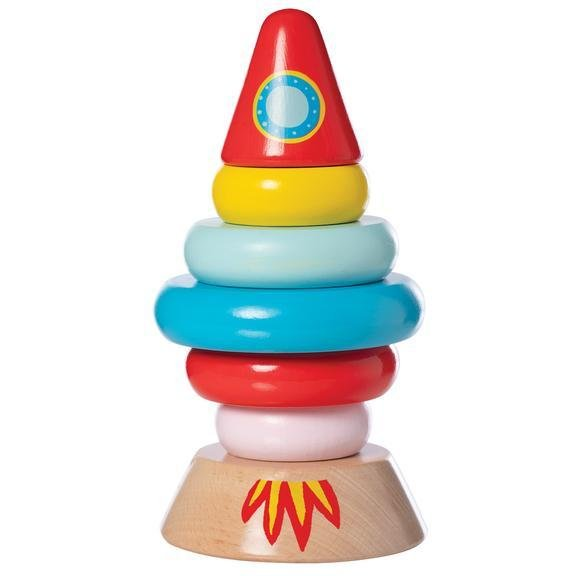 Magnetic Wood Stacker Rocket - Wood Wood Toys Canada's Favourite Montessori Toy Store