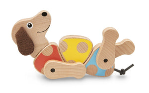Melissa and Doug First Play Puppy Grasping Toy - Wood Wood Toys Canada's Favourite Montessori Toy Store