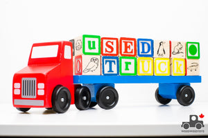Melissa & Doug Alphabet Blocks Wooden Truck - Wood Wood Toys Canada's Favourite Montessori Toy Store