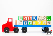 Load image into Gallery viewer, Melissa & Doug Alphabet Blocks Wooden Truck - Wood Wood Toys Canada's Favourite Montessori Toy Store