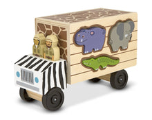 Load image into Gallery viewer, Melissa & Doug Animal Rescue Shape-Sorting Truck - Wood Wood Toys Canada's Favourite Montessori Toy Store