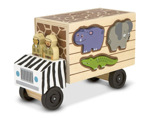 Melissa & Doug Animal Rescue Shape-Sorting Truck - Wood Wood Toys Canada's Favourite Montessori Toy Store