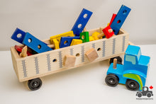 Load image into Gallery viewer, Melissa & Doug Big Rig Truck - Wood Wood Toys Canada's Favourite Montessori Toy Store