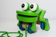Load image into Gallery viewer, Melissa & Doug Deluxe Frolicking Frog Wooden Pull Toy - Wood Wood Toys Canada's Favourite Montessori Toy Store
