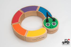 Melissa & Doug First Play Caterpillar Wooden Grasping Toy - Wood Wood Toys Canada's Favourite Montessori Toy Store