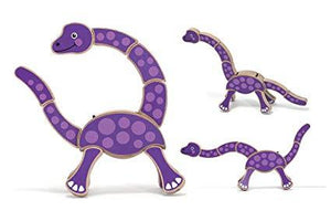 Melissa & Doug First Play Dinosaur Wooden Grasping Toy - Wood Wood Toys Canada's Favourite Montessori Toy Store