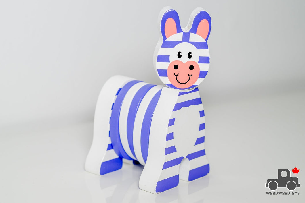 Melissa & Doug First Play Grasping Zebra - Wood Wood Toys Canada's Favourite Montessori Toy Store