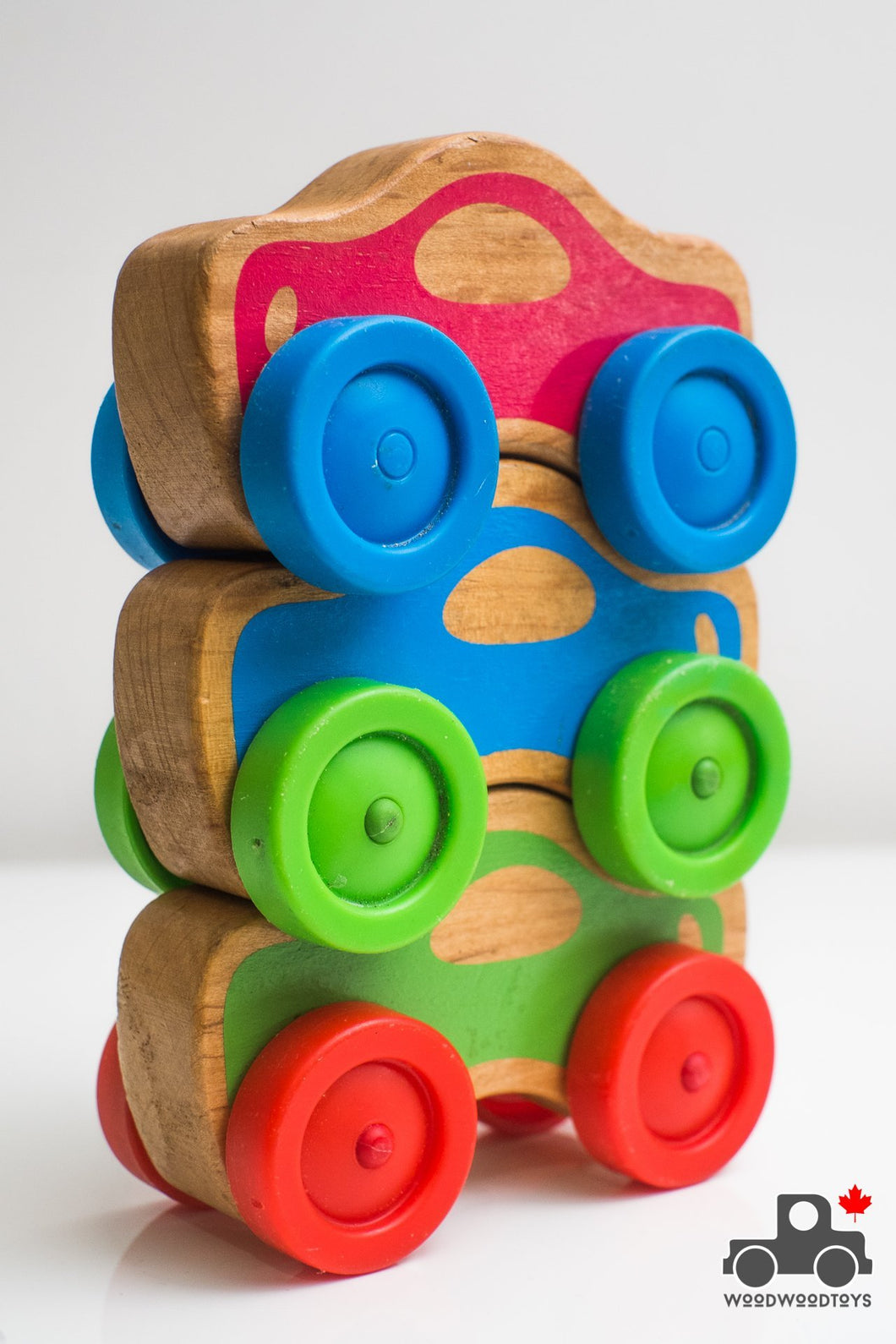 Melissa & Doug First Play Stacking Cars (set of 3) - Wood Wood Toys Canada's Favourite Montessori Toy Store
