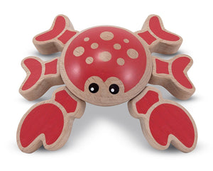 Melissa & Doug First Play Twisting Crab Wooden Grasping Toy - Wood Wood Toys Canada's Favourite Montessori Toy Store