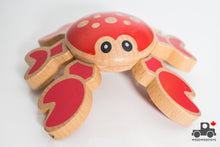 Load image into Gallery viewer, Melissa & Doug First Play Twisting Crab Wooden Grasping Toy - Wood Wood Toys Canada's Favourite Montessori Toy Store